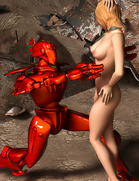 Hot Chick Fucks a Robot While Visiting Another Planet