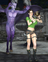 Raiding tombs turns into super hot sex for tight-bodied Clara