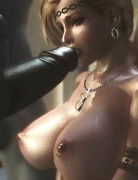 Busty girl is getting gang banged by some muscular and hardcore studs